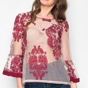 SALE❤️🔥MINKPINK The Sweetest Sound Sheer Blouse